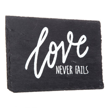 Love Never Fails Slate Decor